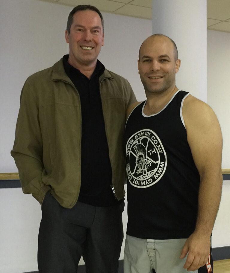 Wing Chun Master Alan Orr with James Sinclair
