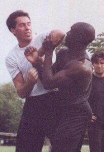 Wing Chun Master Eric Wilson and James Sinclair double Chi Sau circa 1992