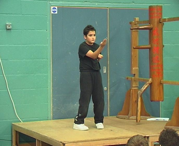 Reece Warner performs Wing Chun Siu Nim Tao