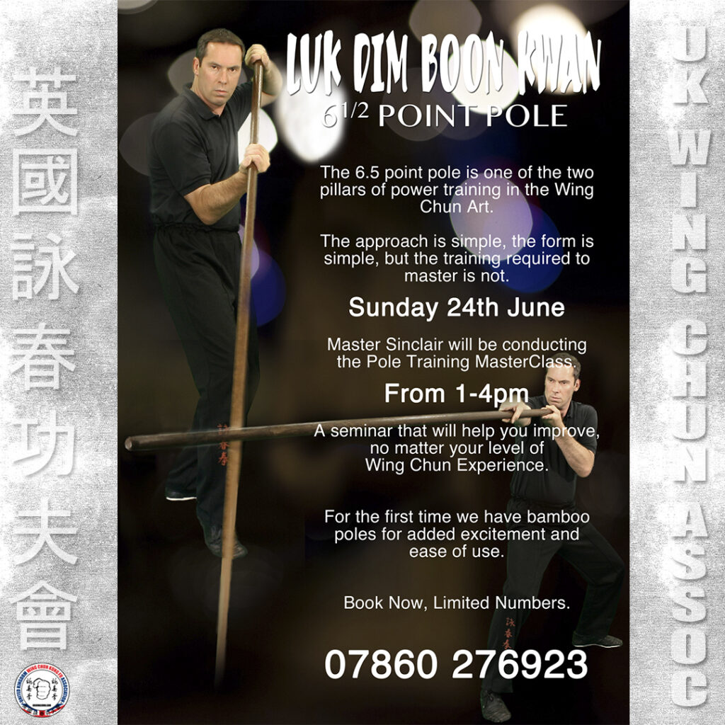 Wing Chun Training MasterClasses are held by James Sinclair annually.