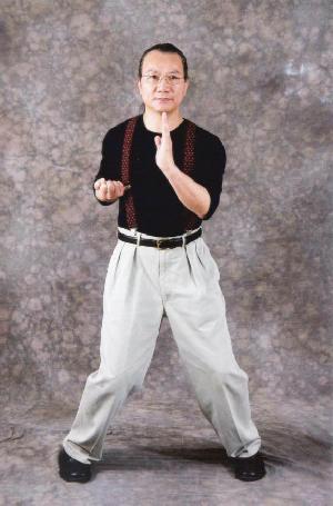 Grandmaster Wan Kam Leung demonstrates the Wu Sau from the Wing Chun form Siu Nim Tao