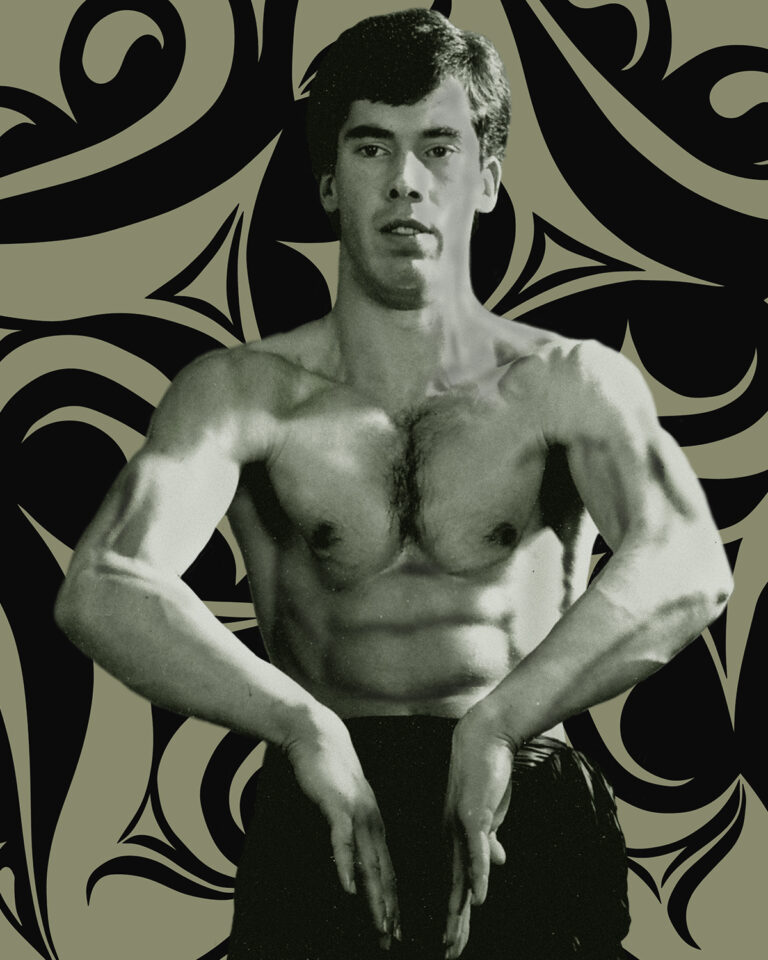 James Sinclair as a fit young man performing the Sheung Dai Bong Sau. This with a slightly different shape is also used a Bik Sau.
