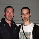 James Sinclair with 'Everything Wing Chun' founder, Aaron Cantrell.
