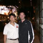 James Sinclair with American Wing Chun teacher Benny Meng.