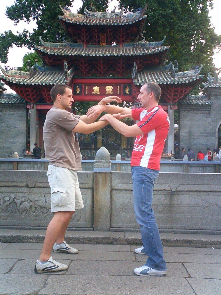 Ashley Phillips and Gary Cooper in Foshan China.