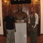 Master Mark Phillips with Sifu Eric Wilson at the App Man Tong in Foshan China