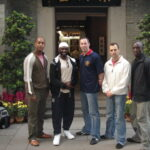 Outside of the Ip Man Tong in 2005. James met up wit his younger kung fu brother Master Abdul Malik of 'The Wing Chun School'.