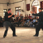2005 Sifu Gary Cooper & Sifu Ashley Phillips demonstrate in the Ching Woo School, Foshan. This was for the VTAA 2nd World Conference.