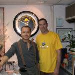 James Sinclair with his good friend Grandmaster Wan Kam Leung.