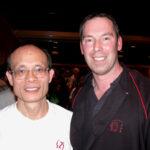 2005 Shatin, Hong kong. James Sinclair with Grandmaster ip Shun's longest studying student Ho Po Kai Sifu