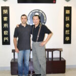 Master Nick Martin with Grandmaster Wan Kam Leung