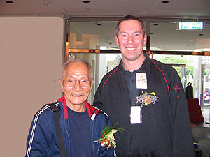 Grandmaster ip Chun and James Sinclair in 2005 at the VTAA 2nd World Conference