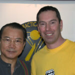Grandmaster Wan Kam Leung and James Sinclair have become good friends.