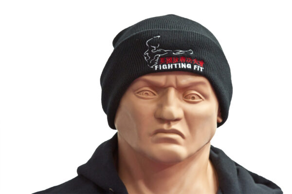 Wing Chun Beanie Hat with unique copyrighted UKWCKFA Fighting Fit logo.