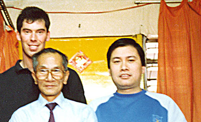 James Sinclair in January 1989 at the home of Grandmaster Ip Chun. They were great friends and had a good relationship.