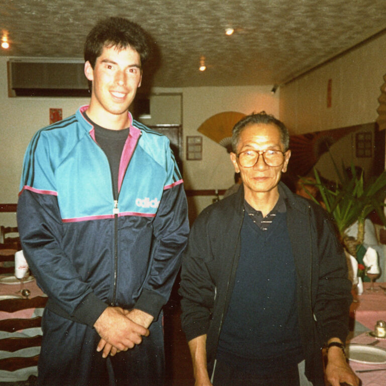 Grandmaster Ip Chun and James Sinclair were good friends and would touch hands regularly.
