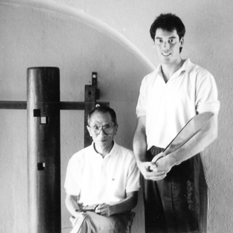 Wing Chun Grandmaster Ip Chun and James Sinclair. James formally completed the Art.