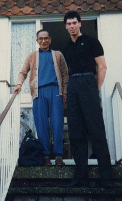 James Sinclair & Grandmaster Ip Chun 1987, The grandmaster would stay at James' home as a guest. They would arise early and train together before others even awoke.