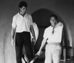 Grandmaster Ip Chun runs through Bart Cham Do Form in Manchester in 1987 after James formally completed Art. James had also just had a challenge fight with another Wing Chun Master which was very bloody for his opponent and Grandmaster Ip Chun continued to teach James knowing it was not James fault that the person challenged him.