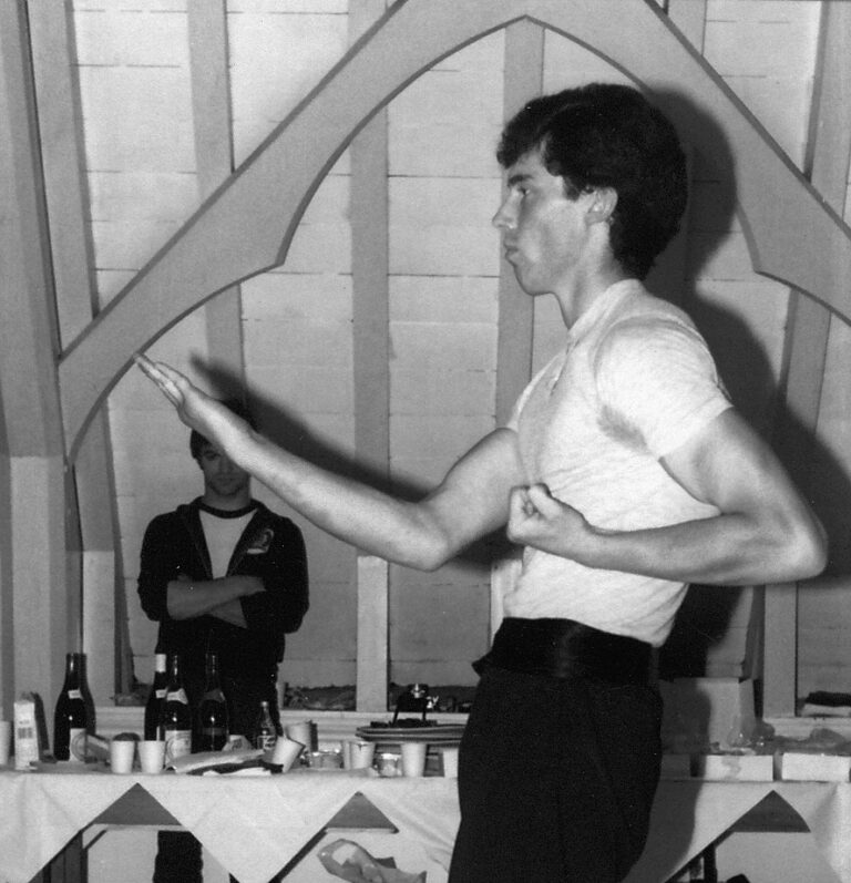 James Sinclair performing the SiuNim Tao form to Grandmaster Ip Chun in 1981